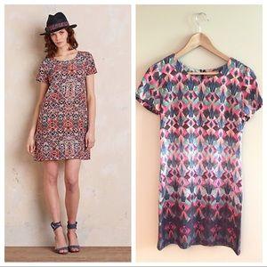 NWOT Anthropologie Kachel Geometric Silk Dress